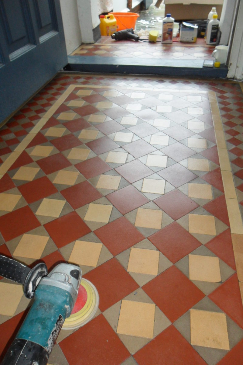Victorian floor tile restoration
