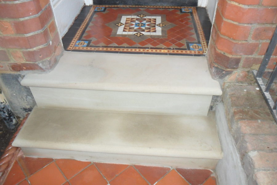 Quarry Tile Pathway Restoration St Albans Hertfordshire