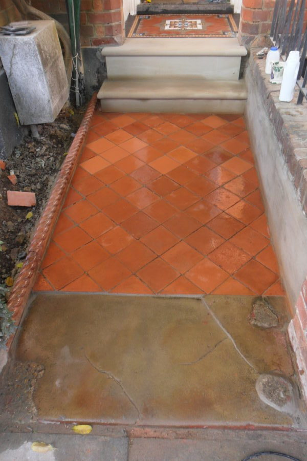 Quarry Tile Pathway Restoration St Albans Hertfordshire