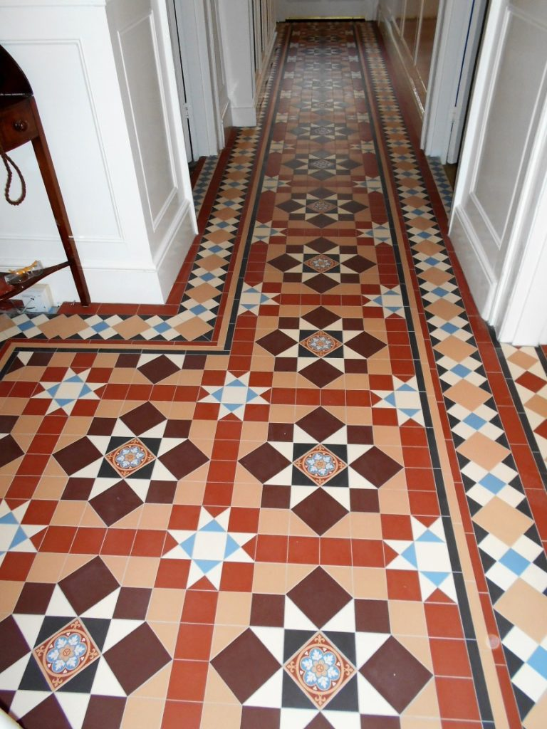 Geometric Tiled Hallway In Hertfordshire Chatworth And